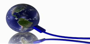 earth plugged into usb cable