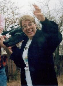 Lorraine Grula with video camera