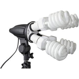 compact florescent light fixture for video
