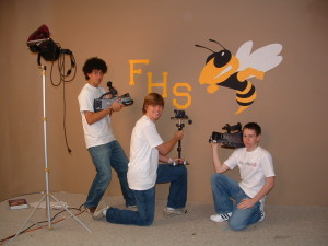 high school video production students