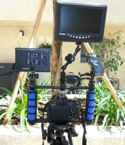 camera accessory holder from the back