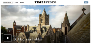 screen capture image of the new york times video page