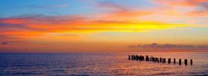 panorama image at sunset