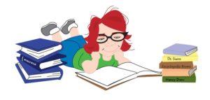 child news nerd reads books