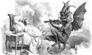 devil plays fiddle