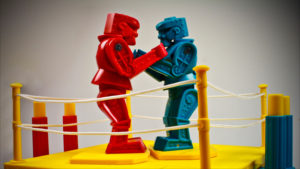 rock em sock em toy robots fight