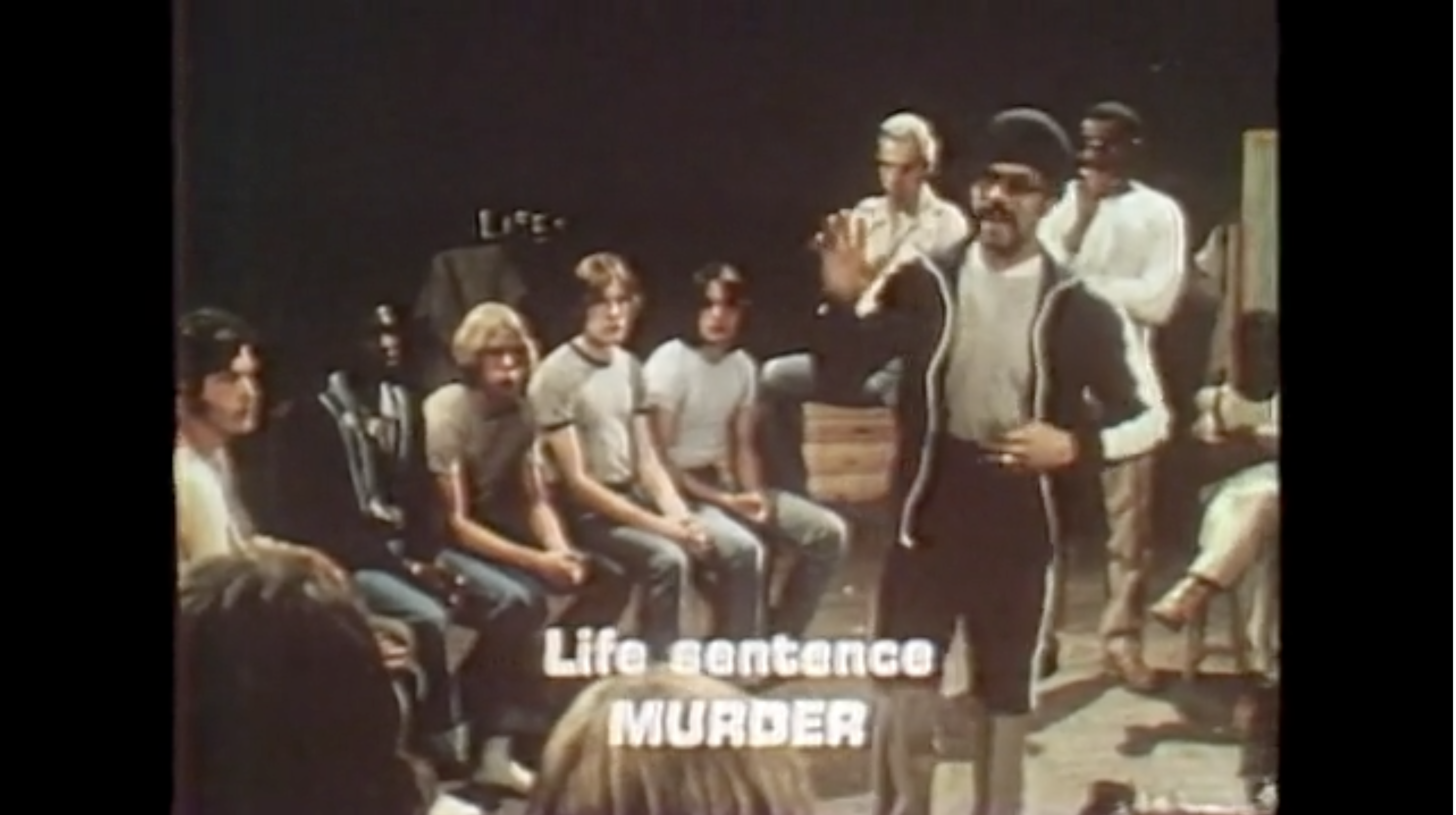 screen shot from movie scared straight